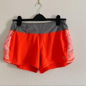 Athleta Running Shorts In Orange
